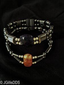 Hematite therapy bracelets - also very good looking!